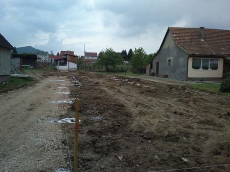 Molnár ház építése 1. Fázis